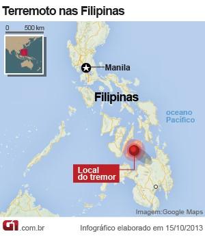 Terremoto nas Filipinas deixa 190 mortos