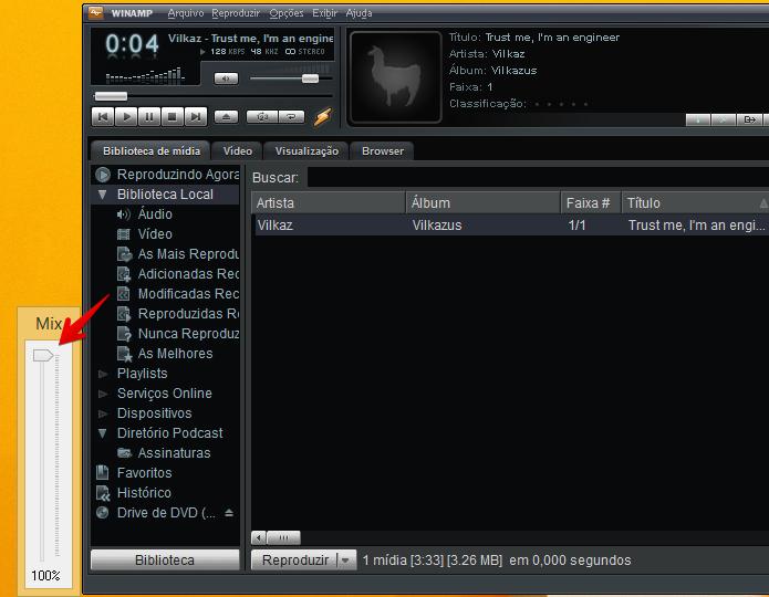Removendo a voz de uma música (Foto: Reprodução/Helito Bijora)