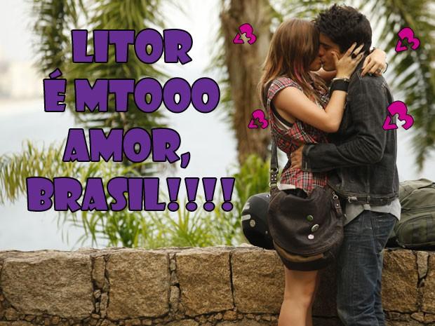 É mto <3, né Brasil? As LiTorzetes ficam doidas com o love do casal! (Foto: Malhação / Tv Globo)