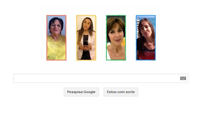 As brasileiras Maria da Penha, Marta Silva, Viviane Senna e Maria Gabrilli no Doodle do Google (Foto: Divulgação/Doodle)