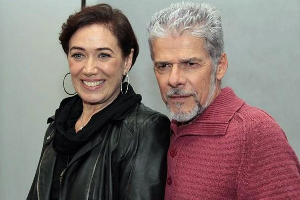 Lilia Cabral e José Mayer no lançamento de Saramandaia; eles vivem Vitória e Zico Rosado na novela (Foto: Miriam Paço/Globo)