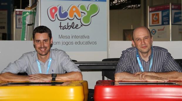 Jean Carlos Gonçalves e Marlon Souza, fundadores da PlayTable (Foto: Rafael Farias Teixeira)