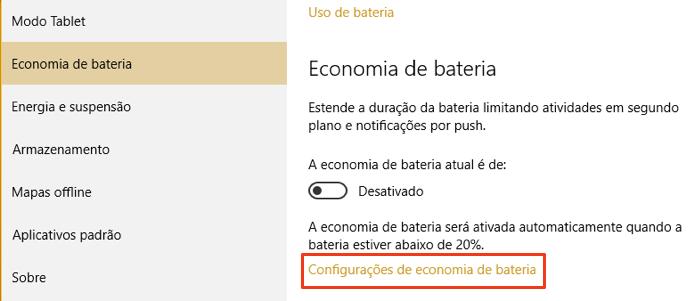 Configure a economia de bateria (Foto: Reprodução/Paulo Alves)
