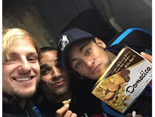 Neymar, Rakitic e Daniel Alves Mundial