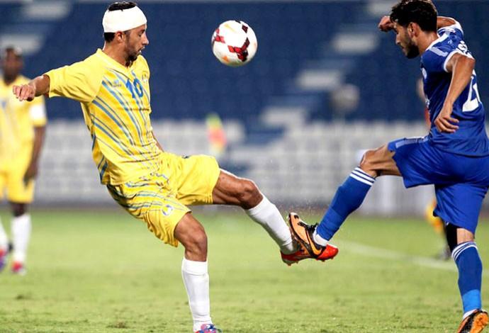 Nenê jogo Al-Gharafa contra Al-Kharitiyat ferimentos (Foto: Divulgação)