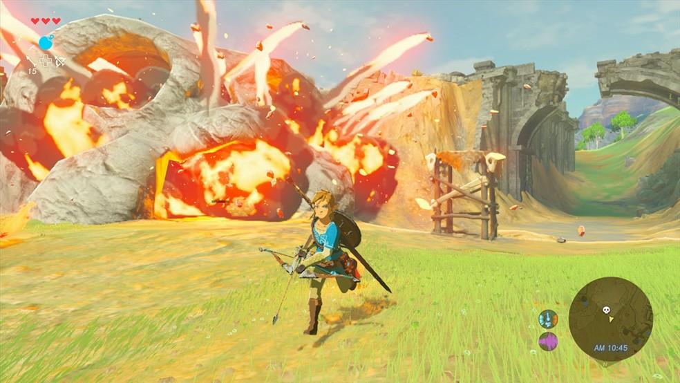 'The Legend of Zelda: Breath of the wild' foi lançado para o Switch em março (Foto: Divulgação)