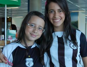 Beatriz e Amanda, torcedoras do Treze (Foto: Cadu Vieira)