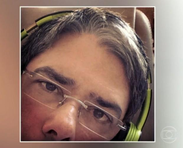 William Bonner está com conjutivite (Foto: TV Globo)