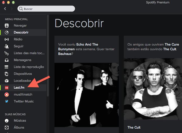 Acessando a extensão do Last.fm através dos favoritos do Spotify (Foto: Reprodução/Marvin Costa)