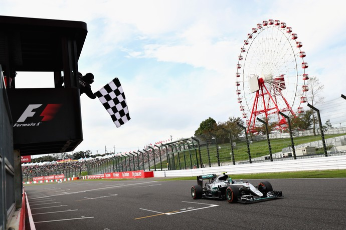 Nico Rosberg vence o GP do Japão de Fórmula 1 de 2016 (Foto: Getty Images)
