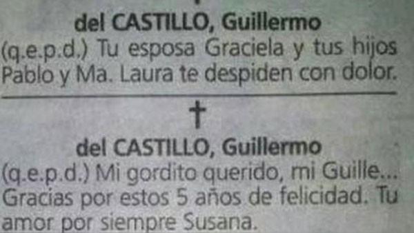 Mulheres descobriram por traição ao publicar anúncio fúnebre em jornal (Foto: Reprodução/Twitter/Tabasco Hoy)