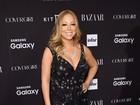 Mariah Carey usa vestido transparente e deixa calcinha à mostra