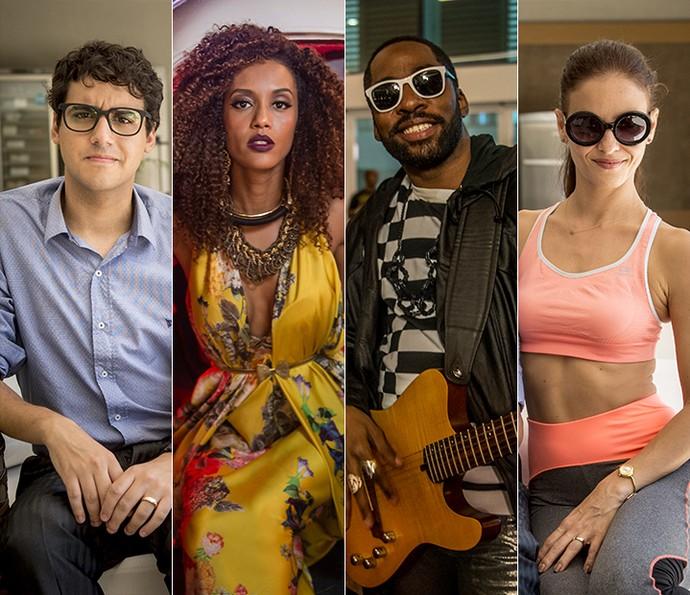 Henrique, Michele, Mister Brau e Andrea (Foto: TV Globo)