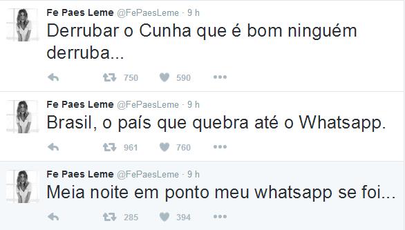 Fernanda Paes Leme no Twitter (Foto: Reprodução Twitter)