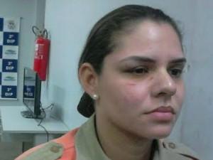 Agente foi agredida com um soco na face (Foto: Arquivo Pessoal)