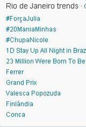 Trending Topics no Rio (Foto: Reprodução)