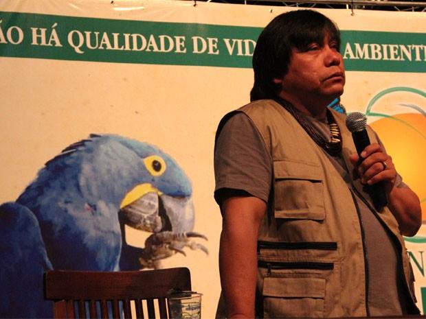 Daniel Munduruku é autor de 43 livros e falou durante abertura de Congresso (Foto: Jéssica Balbino/ G1)