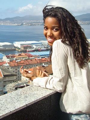 Thaiani da Silva em Vigo, Galícia, na Espanha (Foto: Arquivo pessoal)