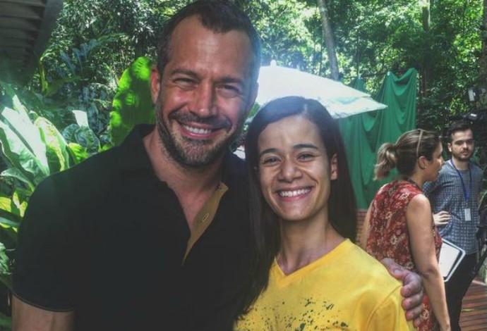 Malvino Salvador e Verônica Hipólito no encontro paralímpico no Rio de Janeiro (Foto: Reprodução/Instagram)