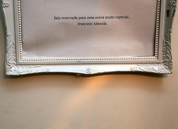 Um cantinho reservado para noiva Fran (Foto: Isabella Pinheiro/Gshow)
