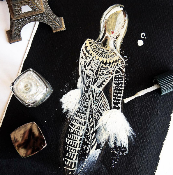 Vestido inspirado no desfile do Valentino (Foto: Reprodução / Instagram)