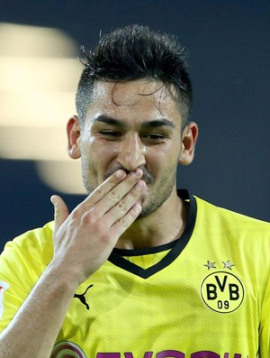 Ilkay Gündogan gol Borussia Dortmund x Bayern de Munique (Foto: EFE)