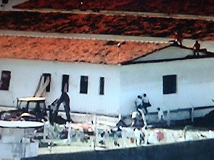 Administração Penitenciária descobre túnel de 2m em presídio na PB (Foto: Reprodução/TV Cabo Branco)