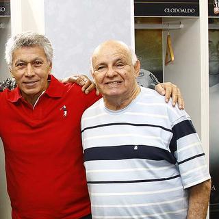 Clodoaldo e Pepe (Foto: Ricardo Saibun/Divulgação Santos FC)