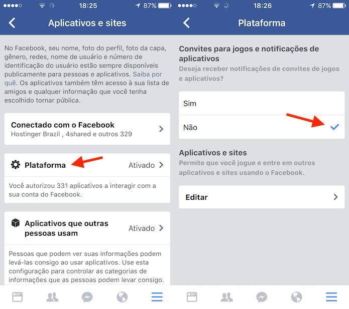Desativando convites para jogos no Facebook para iPhone (Foto: Reprodução/Marvin Costa) (Foto: Desativando convites para jogos no Facebook para iPhone (Foto: Reprodução/Marvin Costa))