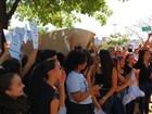 Alunos e professores do IFTM em Uberlândia fazem protesto