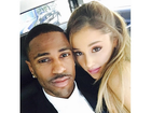 Após assumir namoro, Ariana Grande posa agarradinha com Big Sean