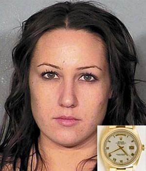 Christina Lafave roubou Rolex e escondeu na vagina (Foto: Las Vegas Police Department/Divulgação)