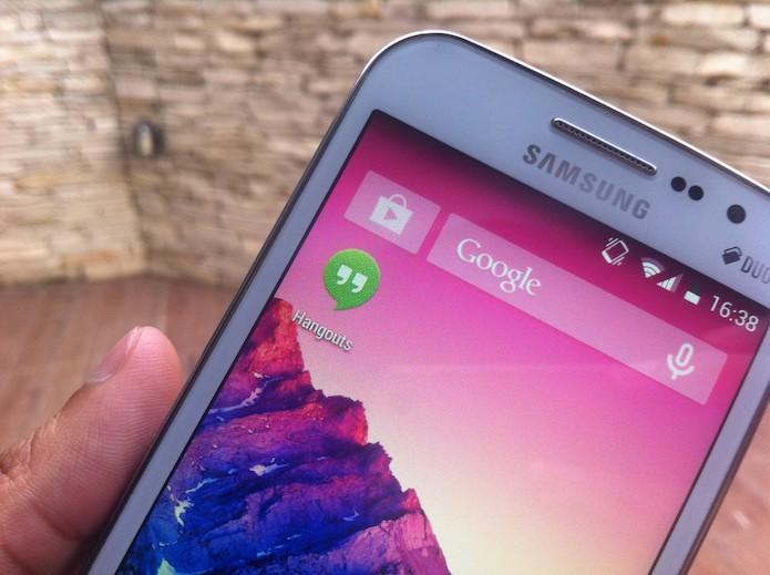 Como ativar a confirmação de SMS entregue no Hangouts para Android? (Foto: Marvin Costa/TechTudo)