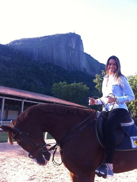 Fernanda Gentil na Hípica (Foto: Chistiane Paiva Chaves)