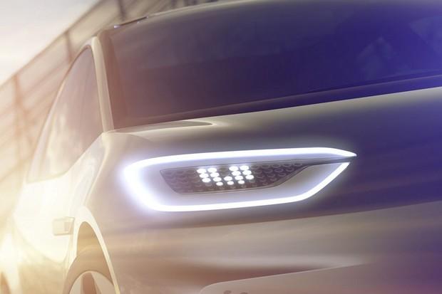 Teaser sobre o carro elétrico da Volkswagen  (Foto: Divulgação)
