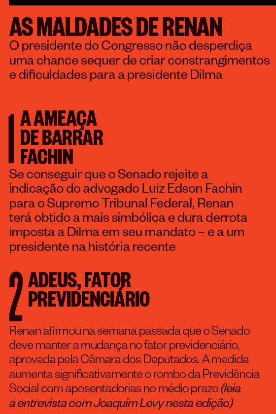 As maldades de Renan Calheiros (Foto: reprodução)