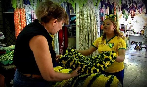 Mercado Central adere a torcida verde e amarela para a chegada de 350 mil turistas (Foto: Produção Destaque VM)