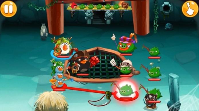 Os combates de Angry Birds Epic são simples  (Foto: Reprodução / Dario Coutinho) (Foto: Os combates de Angry Birds Epic são simples  (Foto: Reprodução / Dario Coutinho))