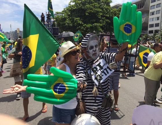 Manifestante no Rio de Janeiro (Foto: Samantha Lima)