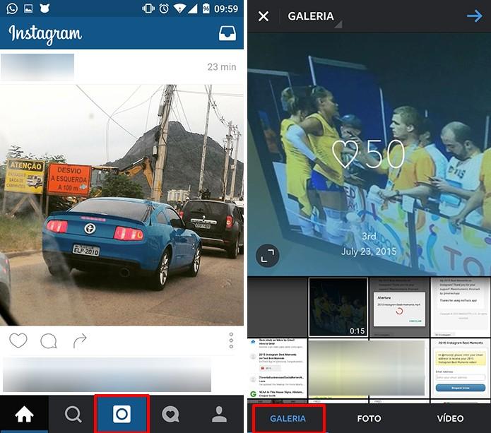 Instagram poderá encontrar vídeo com retrospectiva na galeria do Android ou iOS (Foto: Reprodução/Elson de Souza)
