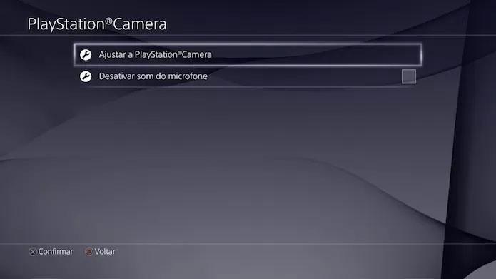 Configuração da câmera do PS4 é simples (Foto: Reprodução/Victor Teixeira)