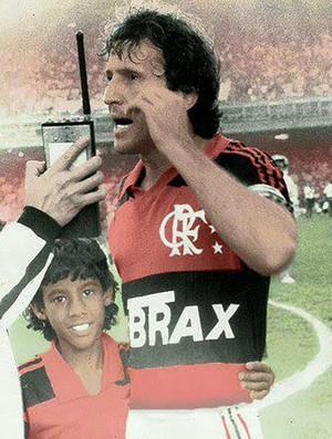 Zico  Léo Moura  (Foto: Reprodução)