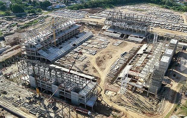 Obras Pantanal, Cuiabá (Foto: Divulgação / Site oficial da Fifa)