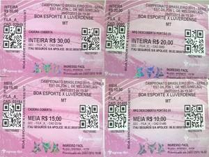 Ingressos para Boa Esporte e Luverdense estão sendo vendidos em Varginha (Foto: Assessoria de Imprensa Boa Esporte)