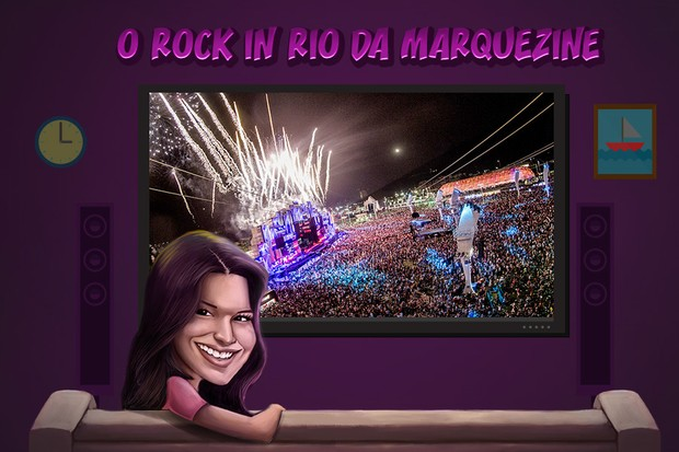 Bruna Marquezine no Rock in Rio  (Foto: Ego)