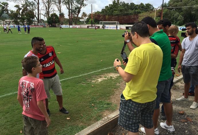 Leo Moura Treino do Flamengo (Foto: Ivan Raupp)