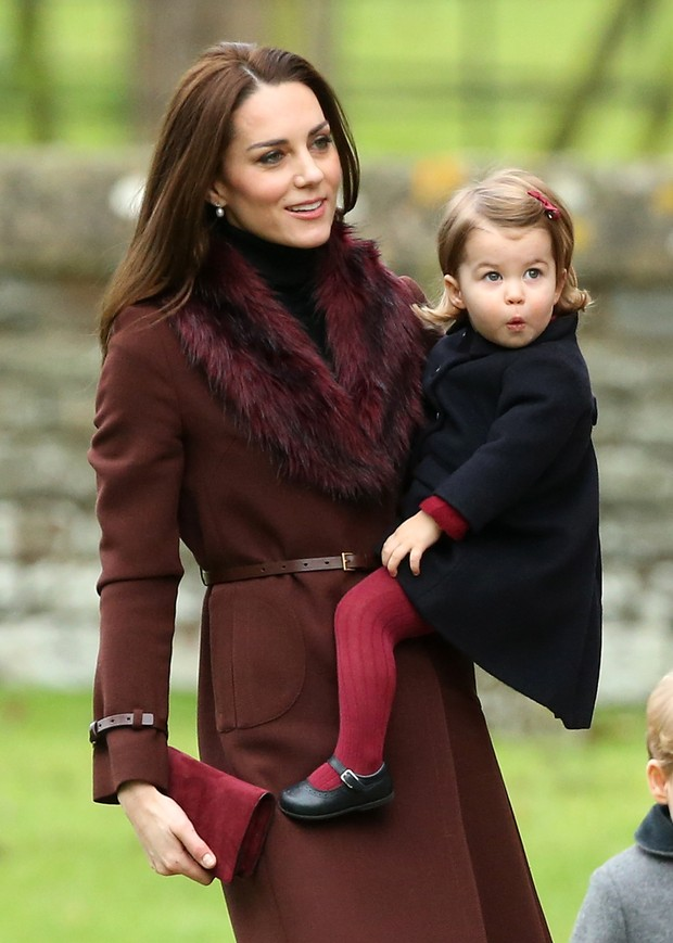 Kate Middleton e a filha caçula, a princesa Charlotte (Foto: Getty Images)