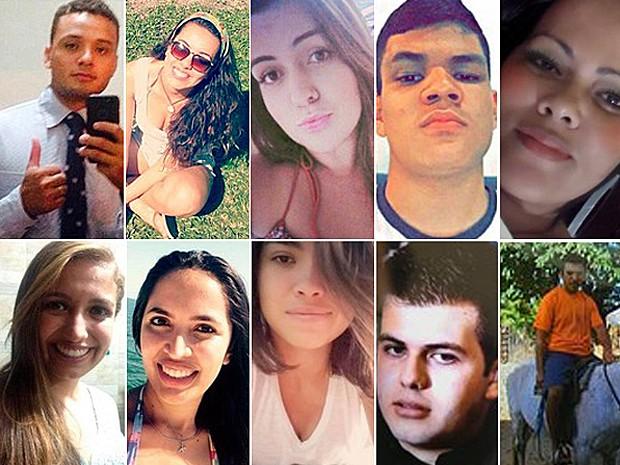 Vítimas do acidente na Rodovia Mogi-Bertioga, em São Paulo (Foto: G1)