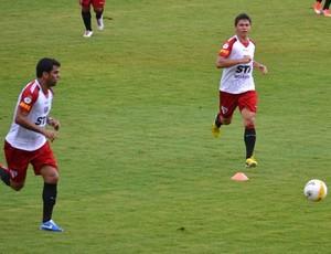 Maicon e Osvaldo, Treino São Paulo (Foto: Site Oficial / saopaulofc.net)