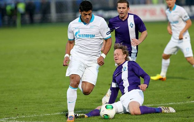 Hulk Zenit jogo contra o Kylya Sovetov (Foto: Reprodução Facebook)